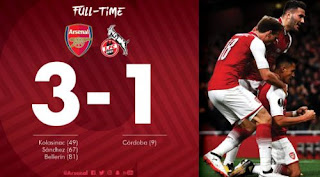Arsenal vs FC Cologne 3-1 Video Gol & Highlights - Liga Europa