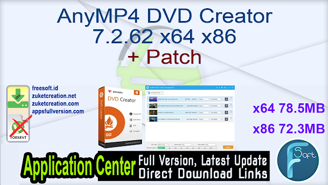 AnyMP4 DVD Creator 7.2.62 x64 x86 + Patch