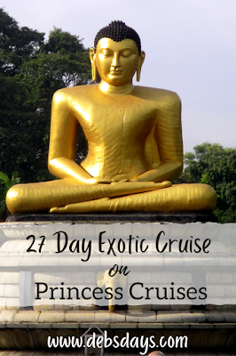 Cruising 27 days from Rome to Singapore on exotic cruise with Princess Cruises