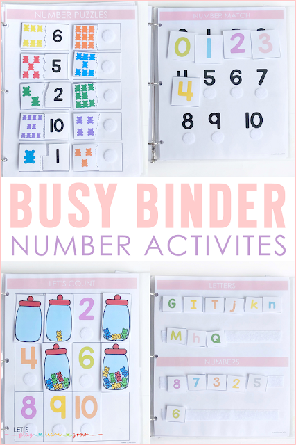 Busy Binder Number Activities
