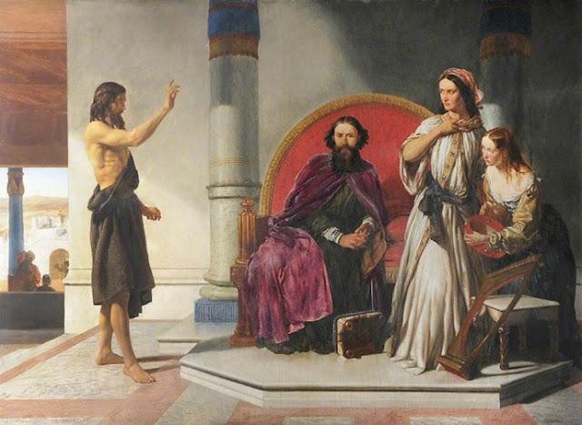 Йоан Кръстител, укоряващ Ирод Роджърс Хърбърт 1848 г.