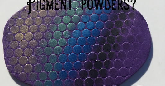 What do you do with mica pigment powders and polymer clay?
