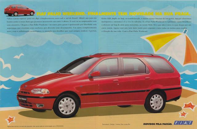Campanha de lançamento de Palio Weekend em 1997