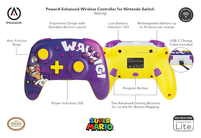 Controle Switch Waluigi