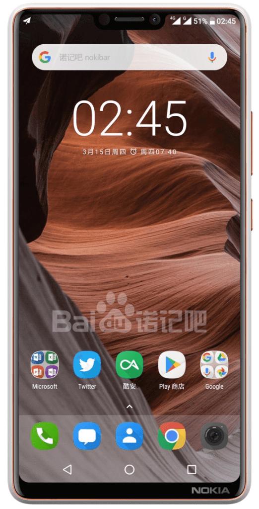 Nokia concept smartphone with a NOTCH