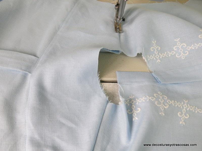 como coser canesú doble en una camisa