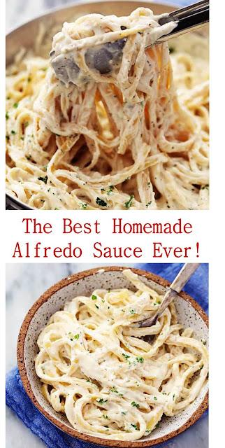 The Best Homemade Alfredo Sauce Ever! #BestHomemade #Alfredo #SauceEver!
