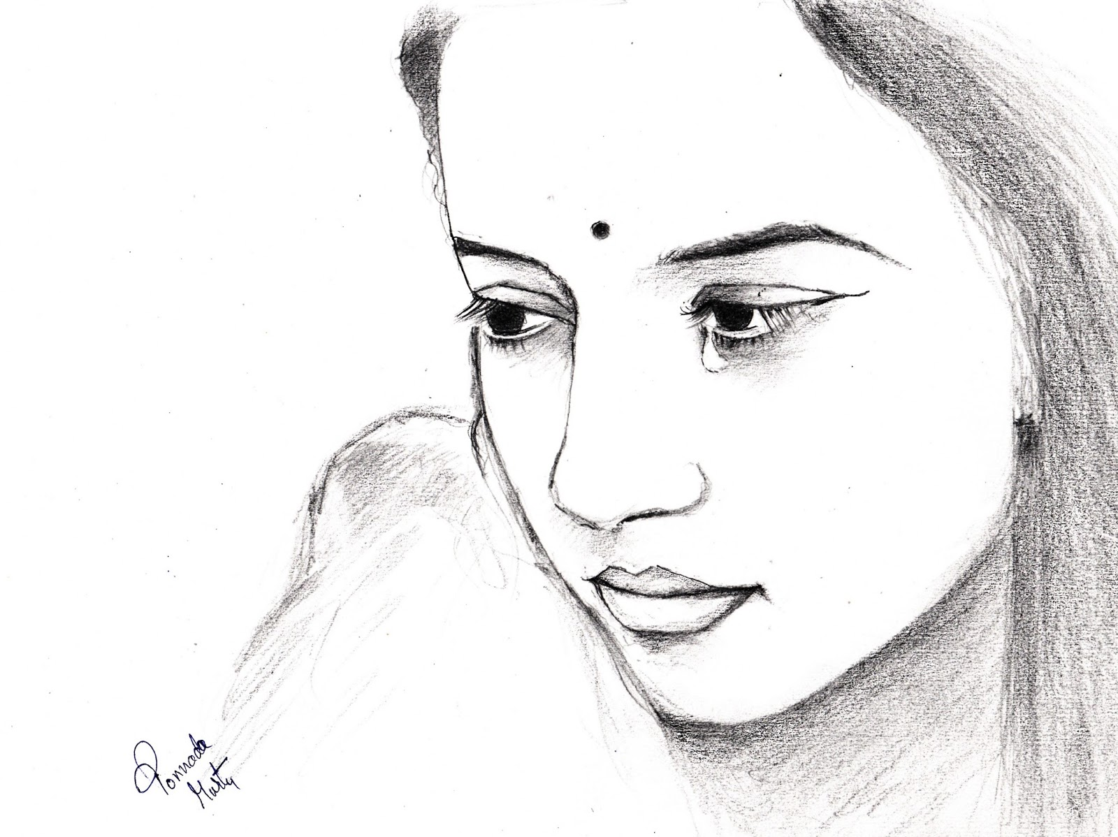 Tears pencil sketch
