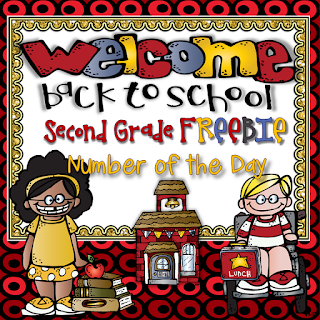 Second Grade Back to School Number of the Day FREEBIE