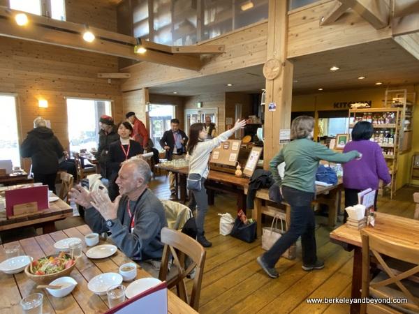 interior of Ortolana pizza cafe in Aomori, Japan