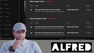 YouTube Has Now Censored Me On Two Channels : Alfred Speaks