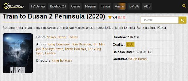 Nonton Film Peninsula (Train to Busan 2) Sub indo Streaming Movie