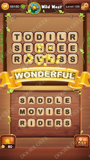 Word Bright Level 120 Answers, Cheats, Solutions, Walkthrough for android, iphone, ipad and ipod