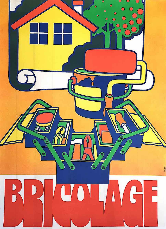 Bricolage home repair, a color illustration, 1970s?