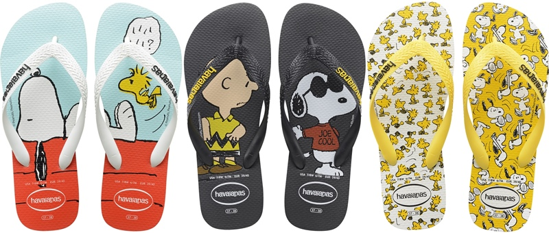 f6e345029dcf Havaianas Peanuts Snoopy and His Friends Collection