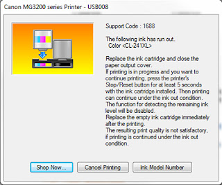 Diary UKM : Easy Trick Ink Out Error Message Solved! Canon Pixma e400