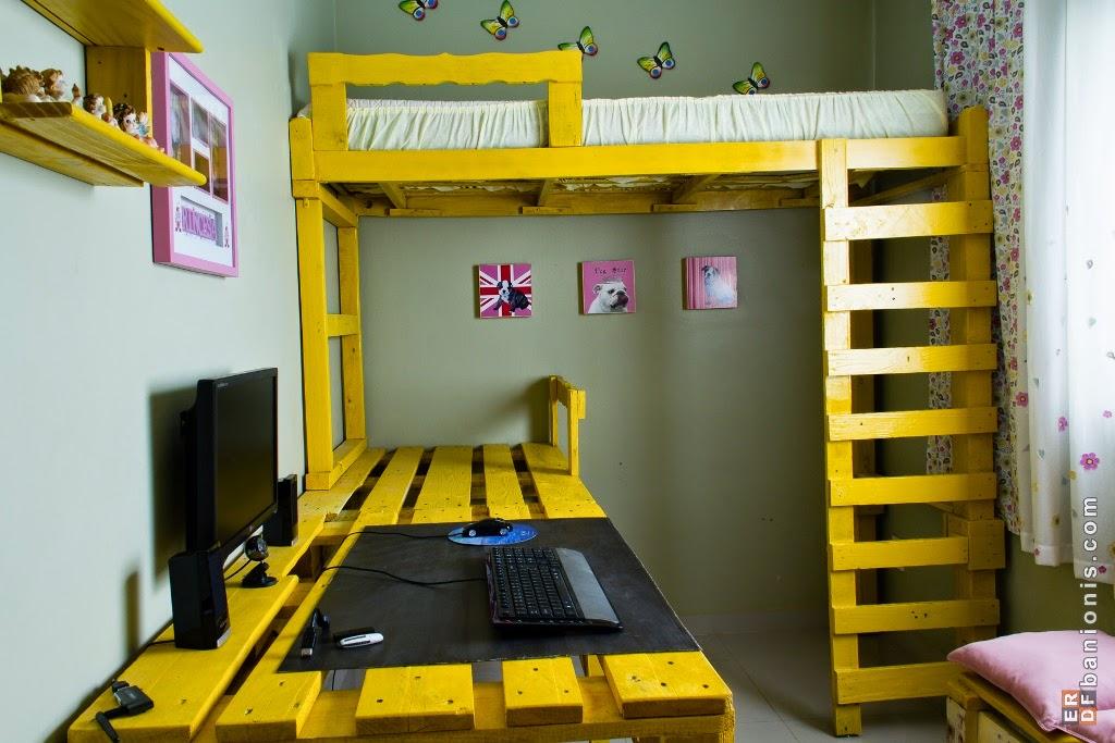 gana espacio en tu habitaci n con esta soluci n de litera o cama alta con. Black Bedroom Furniture Sets. Home Design Ideas