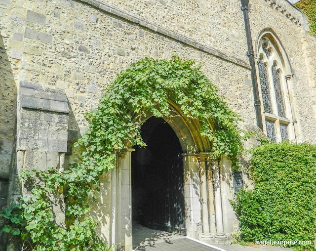 Jardim medieval no Great Hall, Winchester, Inglaterra