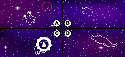 Alt 1 Q 15. Looks like color bird has some blackberries and is soaring the night sky. Can you see where color bird is?