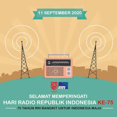 gambar ucapan selamat hari radio republik indonesia 75 tahun