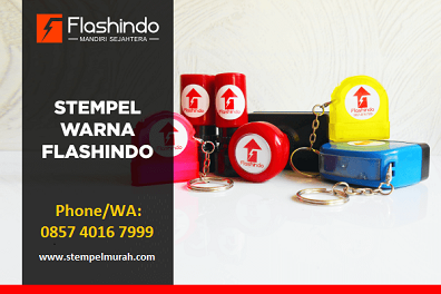 Vendor Stempel Warna Flash Gantungan Kunci Flashindo Jogja