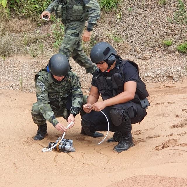 Bope realiza destruição de artefatos explosivos encontrados em Rosário-MA
