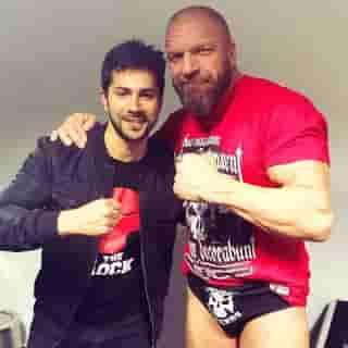 Varun Dhawan With Triple H