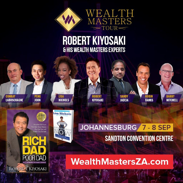 Lisa Nichols & Robert Kiyosaki Live in Wealth Masters Tour Summit on 7-8 Sep 19 @SuccessResSA #Johannesburg