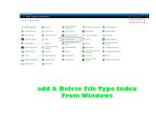 Cara Mudah Menambah dan Menghapus File Type Dari Index Windows