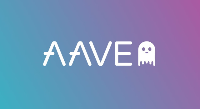 Gambar Logo Aave Cryptocurrency