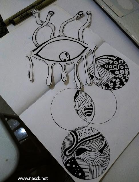 Nasck_olhos e Zentangle