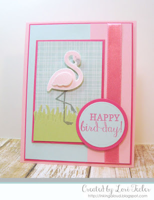 Happy Bird-Day card-designed by Lori Tecler/Inking Aloud-stamps from Reverse Confetti
