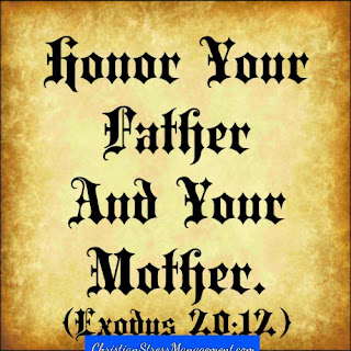 The fifth 5 commandment Honor your father and your mother Exodus 20:12