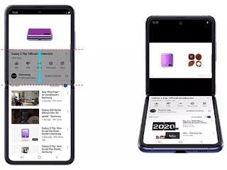 يتمتع هاتف Galaxy Z Flip من سامسونج بتجربة جديدة على شاشة تقسيم YouTube