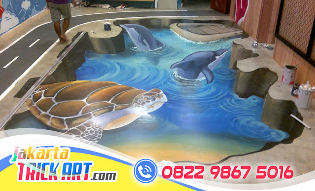 Lukisan 3D Lantai