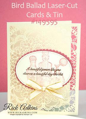 Fanciful Fragrance Stamp Set, Bird Ballad Laser-Cut Cards and Tins, Rick Adkins, Stampin' Up!