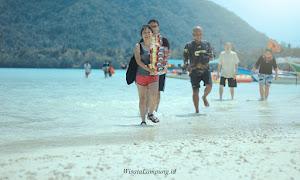 jelajah pulau dalam paket wisata open trip di teluk pahawang lampung