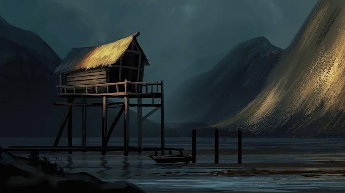 Arte Fantasia Cabana no Lago