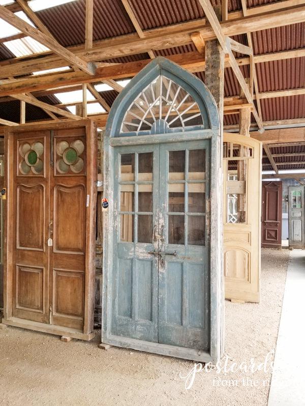antique salvaged wood door