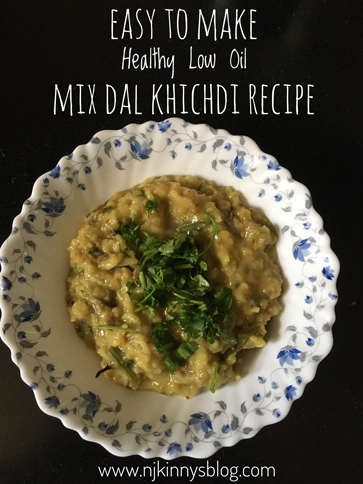 Easy to make Healthy Low Oil Mix Dal Khichdi Recipe