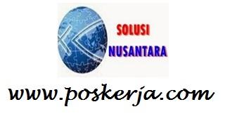 Lowongan Kerja Trbaru PT. Solusi Nusantara Medan Juli 2017