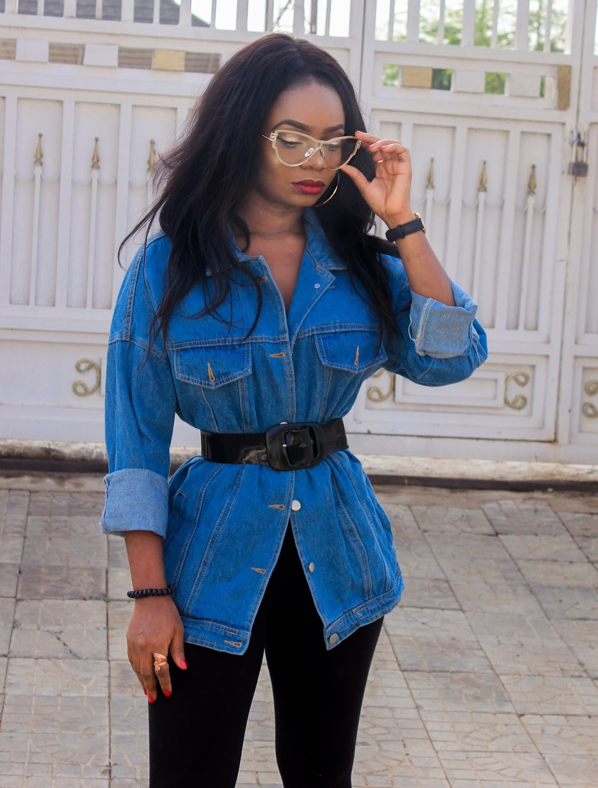 DENIM VIBES - Romwe Oversize Denim Jacket