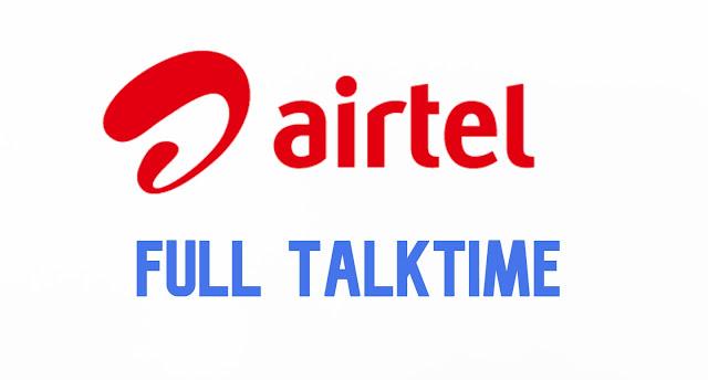 Airtel recharge plans full Talktime 2020