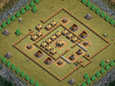 Goblin Base Clash of Clans M is for Mortar