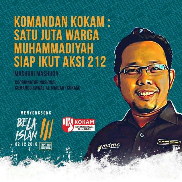 Komandan KOKAM: 1 Juta Warga Muhammadiyah Siap Ikut Aksi 212 : Berita Terbaru Hari Ini