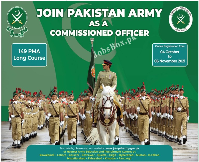 www.joinpakarmy.gov.pk - Pakistan Army As a Commissioned Officer Jobs 2021 in Pakistan