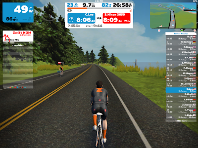 ZWIFT CYCLING APP & MINOURA KAGURA - training indoor with bicycle