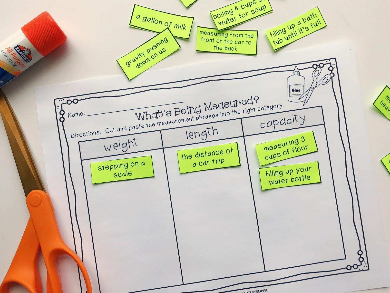 Interactive Ways To Teach Measurement Includes Freebie