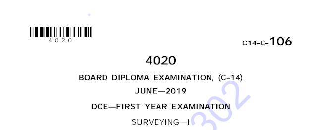 Sbtet Surveying-1 June 2019 Previous Question Paper c14 civil