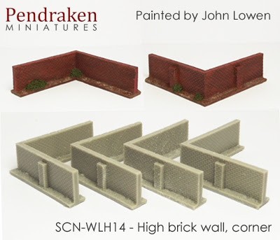 SCN-WLH14   High brick walls, corner (4 pieces)